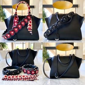 FENDI BUNDLE- 3JOURS BAG + 3 STRAPS + TWILLY